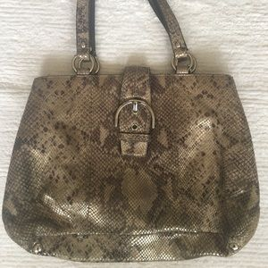 Coach F19679 Soho Faux Snakeskin Buckle Purse